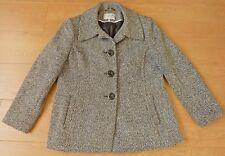 Debenhams Classics Ladies Wool Mix Black White Coat Jacket Size UK 16