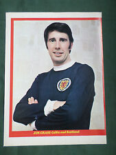 JIM CRAIG - CELTIC  PLAYER- 1 PAGE PICTURE- CLIPPING /CUTTING
