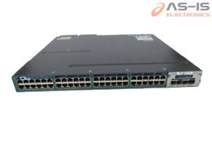 *AS-IS* Cisco WS-C3560X-48PF-L 48Ports PoE+ C3KX-NM-10G Ethernet Switch