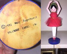Mary Engelbreit Ballerina Ballet Christmas Stocking Hanger Holder Hallmark 1992
