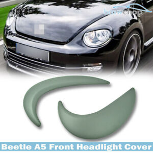 Fit For Volkswagen Beetle A5 2F Front Eyelid Eyebrow Headlight Cover Unpainted