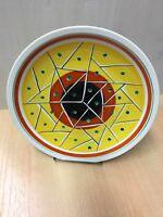 Ilmenau Keramik Kuchenteller Tortenteller 28,5 cm - DDR - geometrisches Dekor
