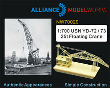 Alliance Model Works 1:700 USN YD-72/73 25t Floating Crane NW70029*
