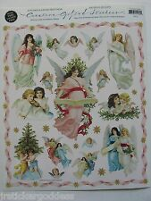 Gifted Line Victorian Christmas STICKERS Vintage Angels Cherubs John Grossman &