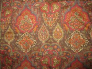 2 Standard/Queen Size Pillow Shams Multicolored Floral Paisley Raymond Waites