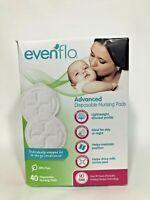 Evenflo Advanced Disposable Lightweight Nursing Pads 40 count PBA Free NIB