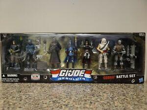 GI Joe Resolute Cobra Battle Set Destro Zartan Storm Shadow Baroness Box 7 Pack