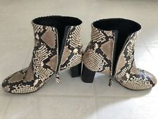 Vero Cuoio Womens Snakeskin Ankle Boots