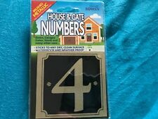 House And Gate Numbers Self Adhesive No 4 3 x 3 Inches