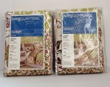 Living Quarters (2) Quilted Standard Pillow Shams NEW Tammy Pattern Green/Purple