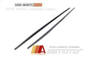 Carbon Fibre Side Skirt Trim Covers fits Mercedes W176 A-Class A200 A250 A45 AMG
