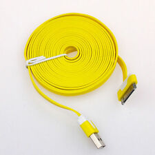 Long 3M USB Cable for iPhone 4S 4 Data Sync Charger Flat Lead Yellow