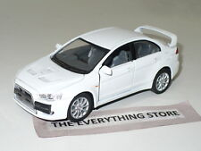 KINSMART 2008 MITSUBISHI LANCER EVOLUTION X WHITE NO BOX FREE SHIP