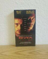 Seven Se7en First Print New Sealed Vhs 1996 Brad Pitt Morgan Freemen Htf Igs
