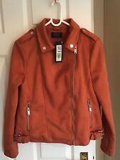 Marks And Spencer Faux Suede Biker Jacket Size 12
