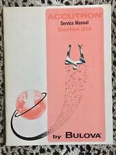 Original vintage Bulova Accutron tuning fork watch 214 Service Manual from 1969