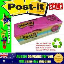 3M Post-it Note Pads Postit Office Sticky Memo Pink Orange Yellow Blue x 2400