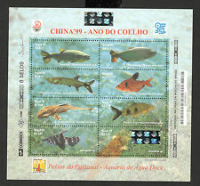 BRASIL-BRAZIL-MNH**  BLOCK-FAUNA-FISH-CHINA'99 - 1999.
