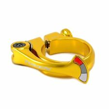 TOKEN Alloy Forged Shark Tail QR Seat Post Clamp 34.9mm , Gold