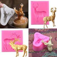 DIY 3D Kuchen Weihnachten Elch Silikon Fondant Mold Hirsch Form