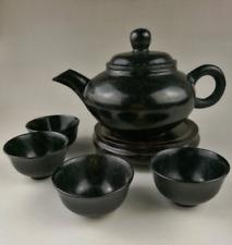 China jade carved jade teapot teapot four cups of tea set teapot