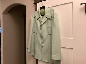 Vintage 1970's Seafoam Green Men's Leisure Suit