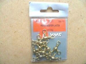 Fishing Carnivorous: 10 Swivels Brass Pater Noster VMC 3543PO No. .1 40 KG