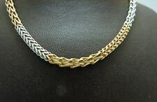 Kette 585 Gold 40 cm Bicolor Damenkette 14 Karat Collier Goldkette