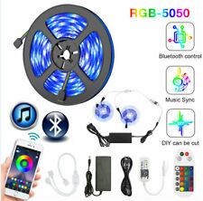 10M RGB 12V LED Strips Light WIFI Bluetooth Remote Sync to Music  5050 Flexible