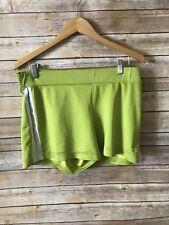 Womens Nike Neon Green Running Shorts 80s Size Large (10-14)