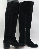 VINCE CAMUTO KOCHELDA WOMEN'S OVER THE KNEE SUEDE BOOTS BLACK 6M NEW W/O BOX
