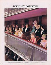 PUBLICITE ADVERTISING 045 1973 TETSU en COULEURS je vais au bar regarder la Télé