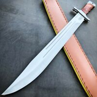 "18"" Tactical Stainless Steel Full Tang Fixed Blade Sword Machete w/ Wood Handle"