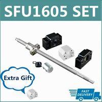 BallScrew RM1605 SFU1605 250mm-1550mm+BF/BK12+6.35*10mm Coupler+Housing CNC Set