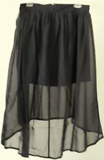 Xcepsion Black Skirt Hi Low Sheer Overlay Festival Skirt 28w Women Sz S