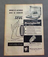 PUB PUBLICITE ANCIENNE ADVERT CLIPPING 130717 / RASOIR ELECTRIQUE REMINTON 60
