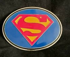 Oval  Superman Belt Buckle - New Without Tag