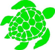 "Sea Turtle Image Silhouette Sticker Decal 4"" X  4.5"" LIME GREEN? FREE US SHIP"
