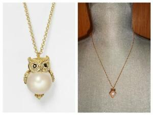 KATE SPADE INTO THE WOODS SHORT PEARL PENDANT NECKLACE