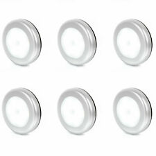 6 Pack Round Motion Sensor Lights Closet Wardrobe Cupboard Light Motion Activate
