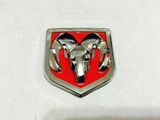 """1 Pcs, Dodge Ram Head Badge Front or Rear Red Chrome 60 X 65 MM / 2.36 x 2.56"""""""