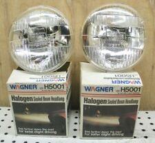 H5001 Wagner Halogen GLASS Headlight NOS, 2 prong, 12V - PAIR of 2 Lights
