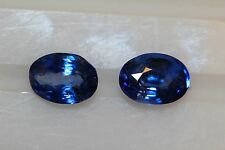 CEYLON BLUE SAPPHIRE PAIR 4.50CTS COLLECTORS ITEM FROM SRILANKA OVALS