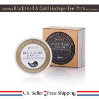 Petitfee Black Pearl & Gold Hydrogel Eye Patch 60pcs + Free Sample [ US ]