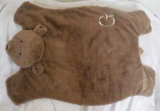 "Pottery Barn Baby Brown Bear Plush Play Mat ""G"" Nwot"