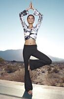 $118 New Hard Tail Metro Black White Tie dye Wrap Top Crop Cover up Yoga Sz M