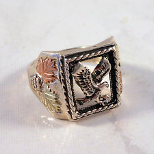 Black Hills 12K Gold & Sterling Silver Men's Eagle Ring Size 12 Coleman Company
