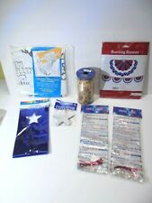 July 4th Usa American Party Decor Craft Ribbon Treat Bags Bunting & More New