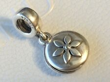 Authentic Pandora Lucerne Flower Amulet Dangle Charm Breast Cancer 790522