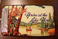 """Rivers Edge Mat Relax You're At the Lake Now  30"""" x 17.7"""""""